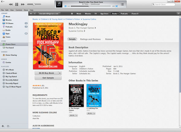 Frequently asked questions emaustralian ebook publisherem you will notice in the example below that the text at the top of the book cover design for mockingjay by suzanne collins is not readable on the ibookstore fandeluxe Image collections